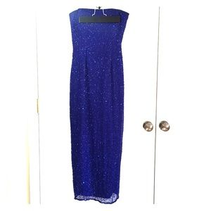 Scala Royal Blue Sequin Prom/Evening Dress